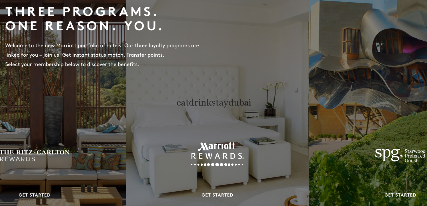 SPG Marriott Rewards Status Match main